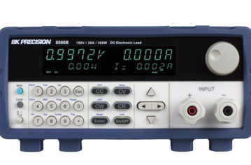 B&K Precision's 8500B Series DC electronic loads with up to 0.1mV / 0.1mA of resolution