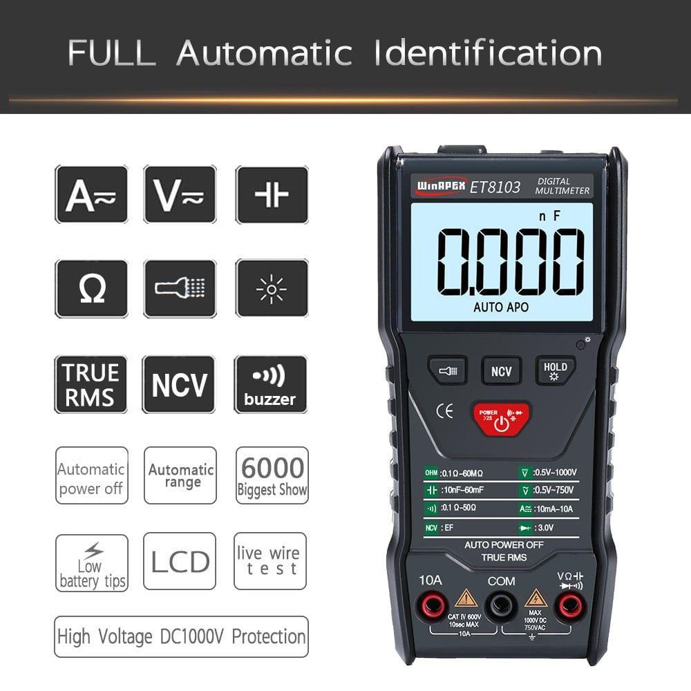 APEXEL ET8103 a Full Intelligent Digital Multimeter
