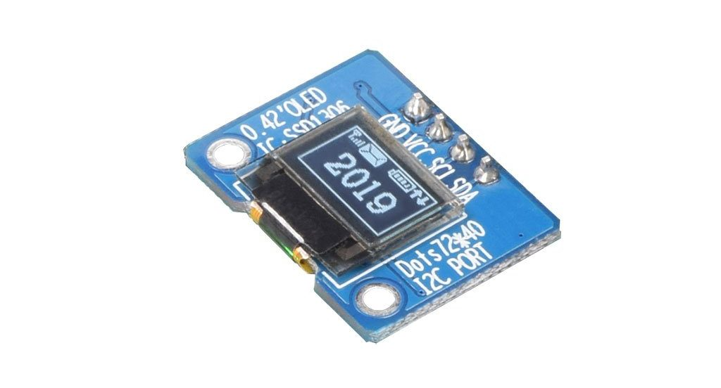 0.42″ 72×40 Extra Small White Graphic OLED Display Module
