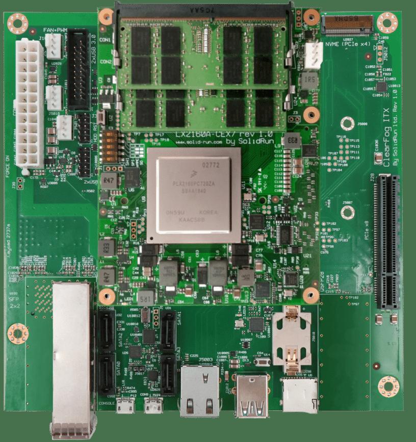 SolidRun HoneyComb LX2K runs Linux on NXP's  16-core -A72 LX2160A