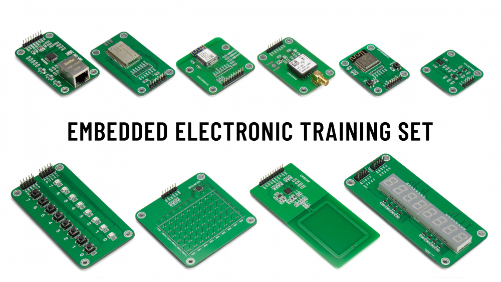 Embedded Electronic Training Set comprises of many modules