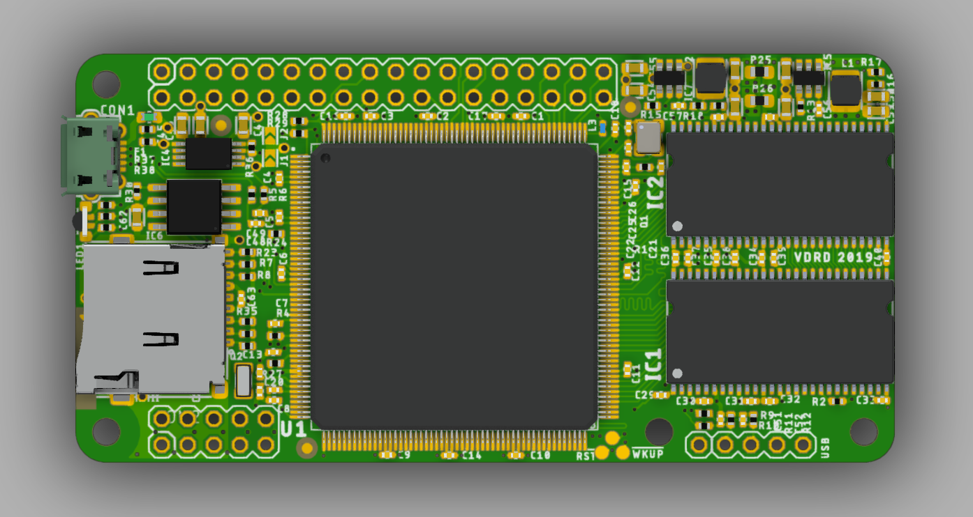 Open hardware SBC module based on AT91SAM9260 @200MHz with 128MB RAM