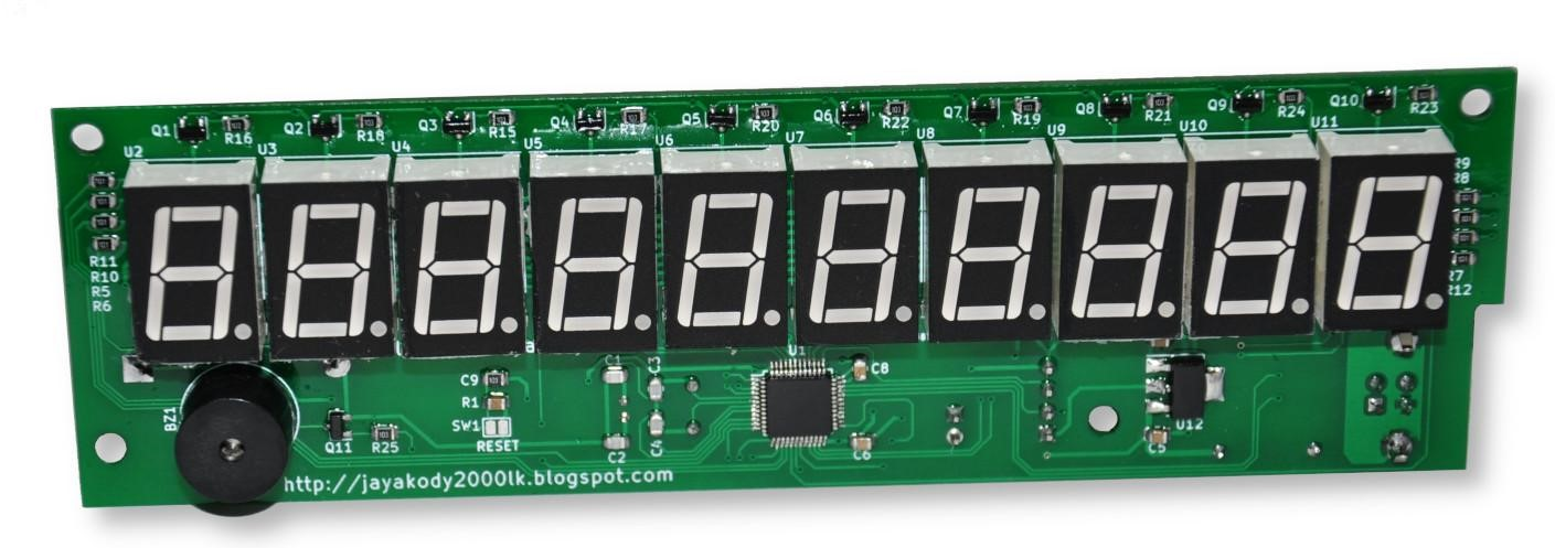 USB 10-digit Seven Segment Display Module
