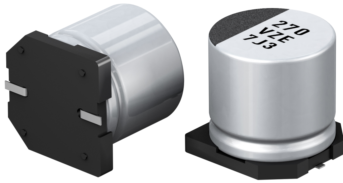 Panasonic's EEHZ hybrid capacitors offer long lifetime at high temperature