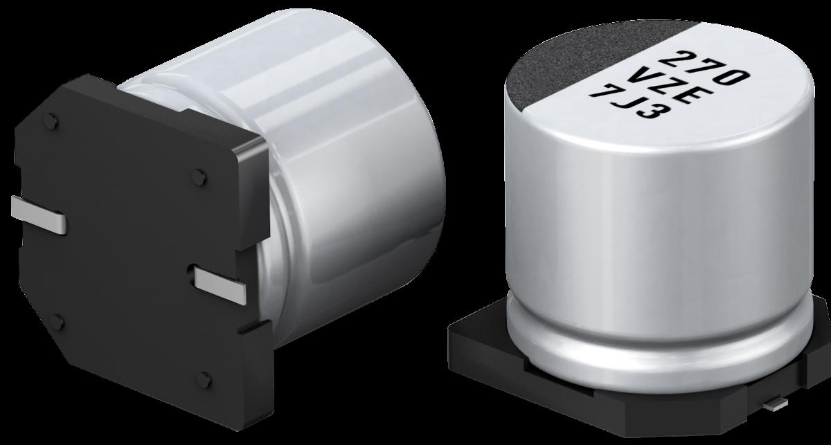 Panasonic's EEHZ hybrid capacitors offer long lifetime at high temperature