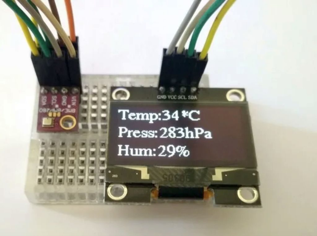 Room Weather Station Using Arduino and BME280