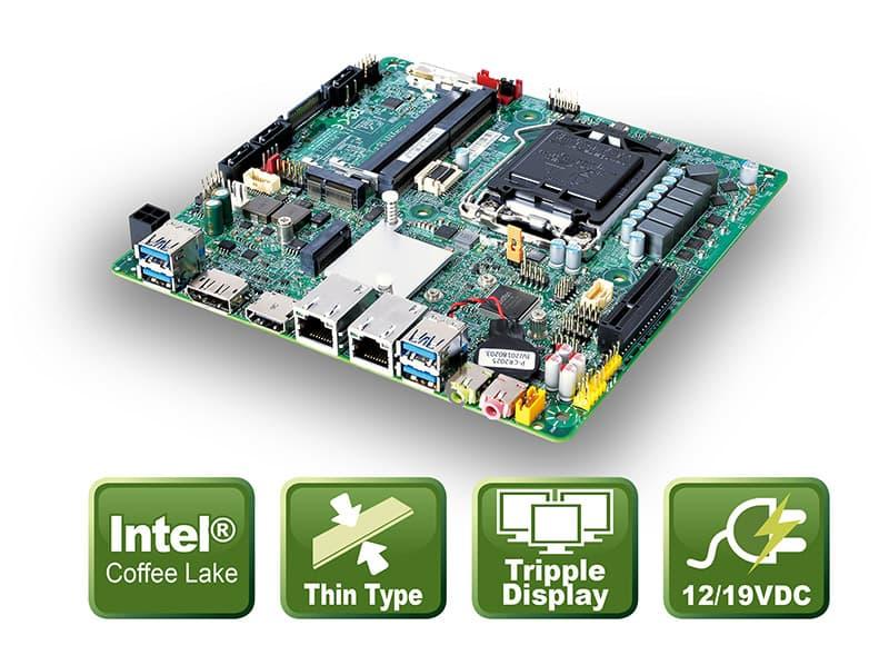 PH12FEI – Thin Mini-ITX Board with Coffee Lake CPU