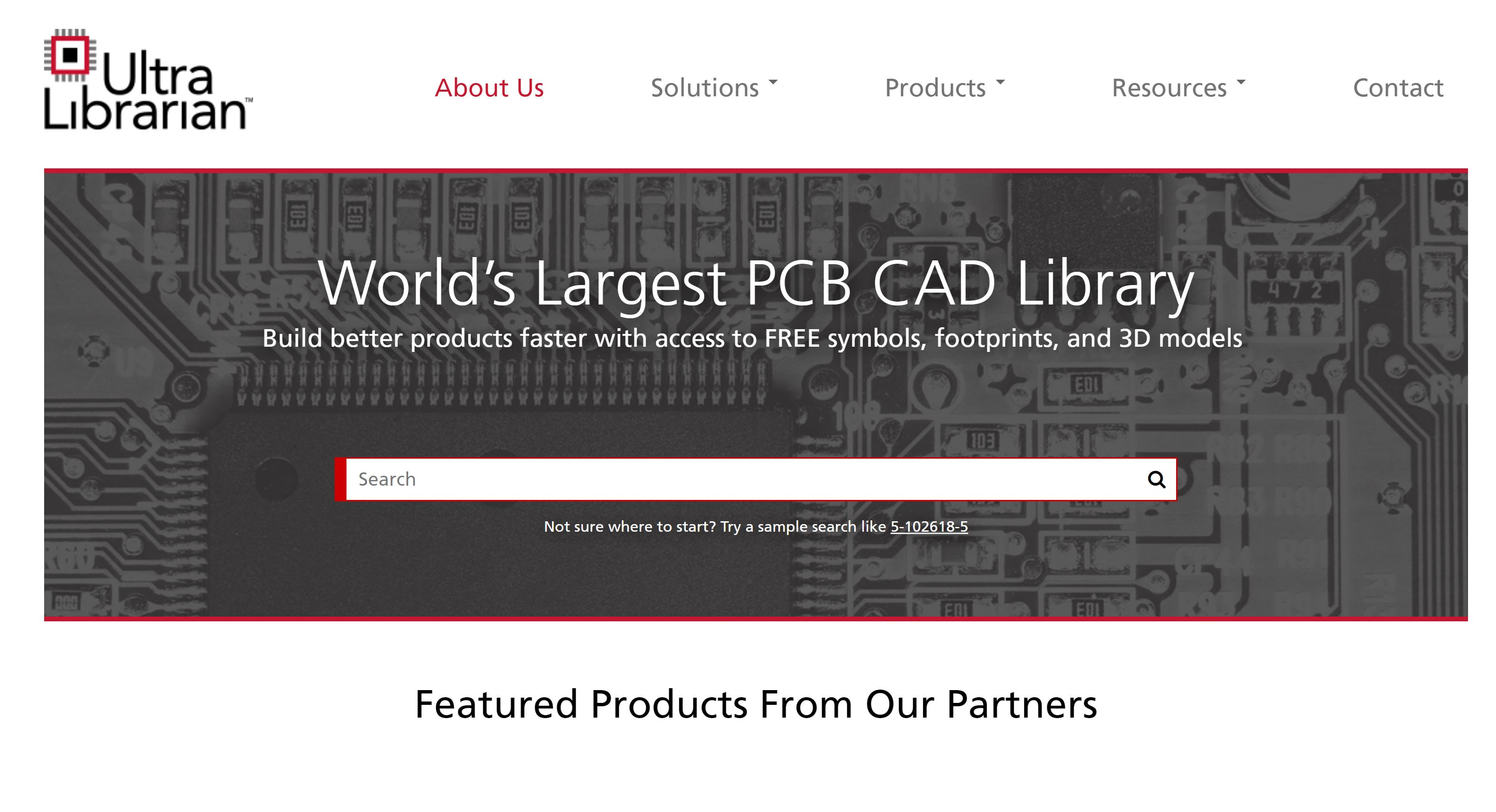 Ultra Librarian - World's Largest PCB CAD Library