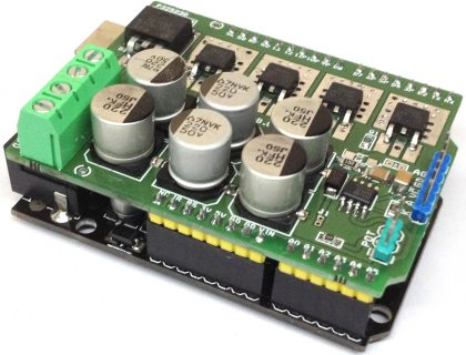 Isolated High Power DC Solid-State Relay Shield for Arduino