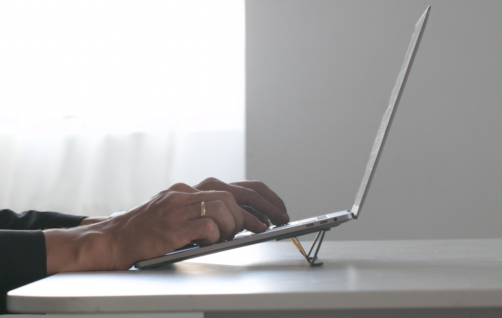 Tesmo Kickstand: Truly invisible laptop stand that weighs nothing and takes up zero space