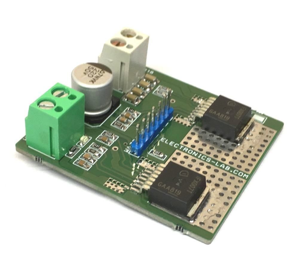 High Power Bidirectional DC Motor Driver using IFX007T