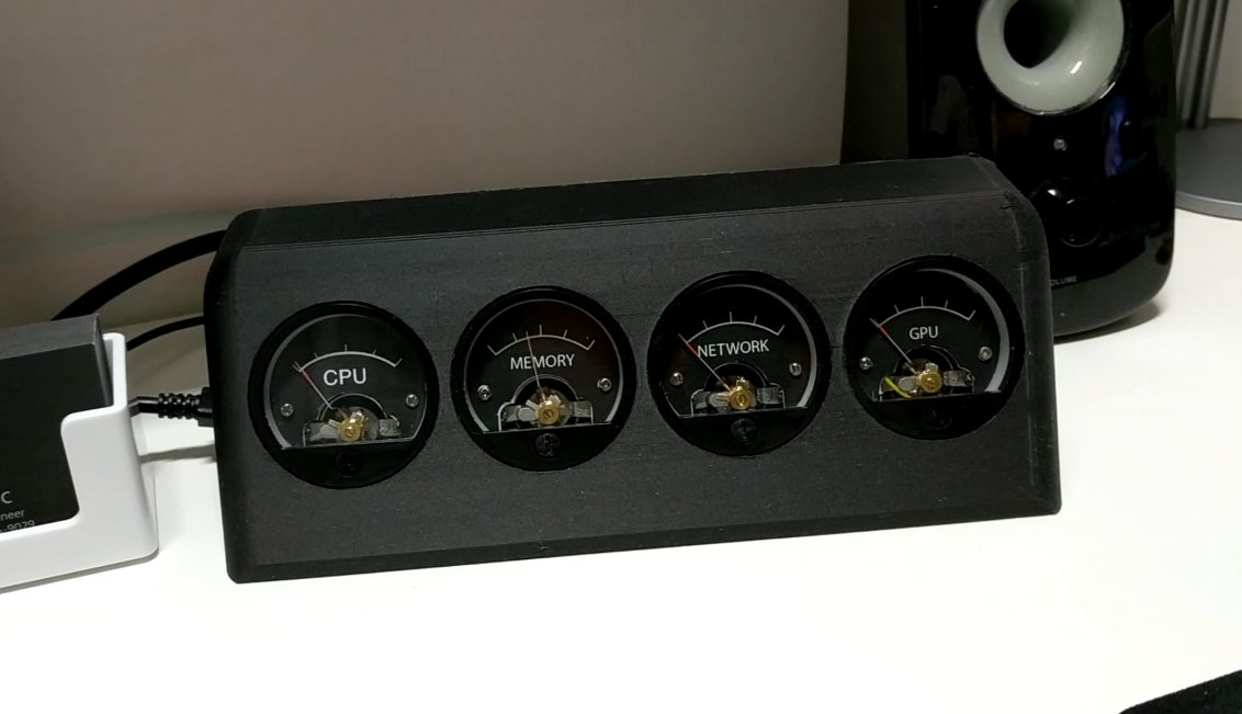 DIY Analog Resource Monitor for your PC