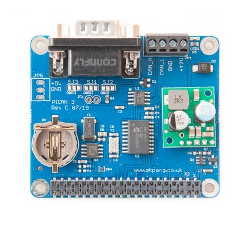 PiCAN3 CAN Bus HAT for Raspberry Pi 4 with 3A Power Supply And Real-Time Clock