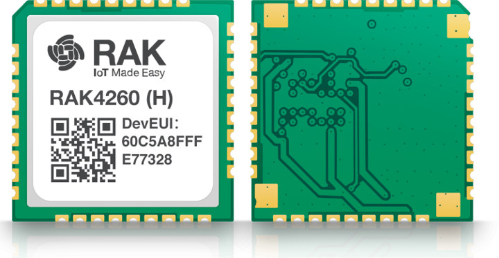 RAKWireless RAK4260 is a Tiny LoRAWAN Module based on Microchip SAMR34 LoRa SiP
