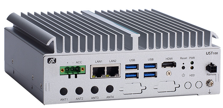 Axiomtek Launches Ultra-compact Fanless Embedded System for Video Analytics  – UST100-504-FL