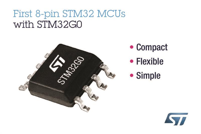 First 8-pin STM32 MCUs for smaller and more power-efficient smart objects