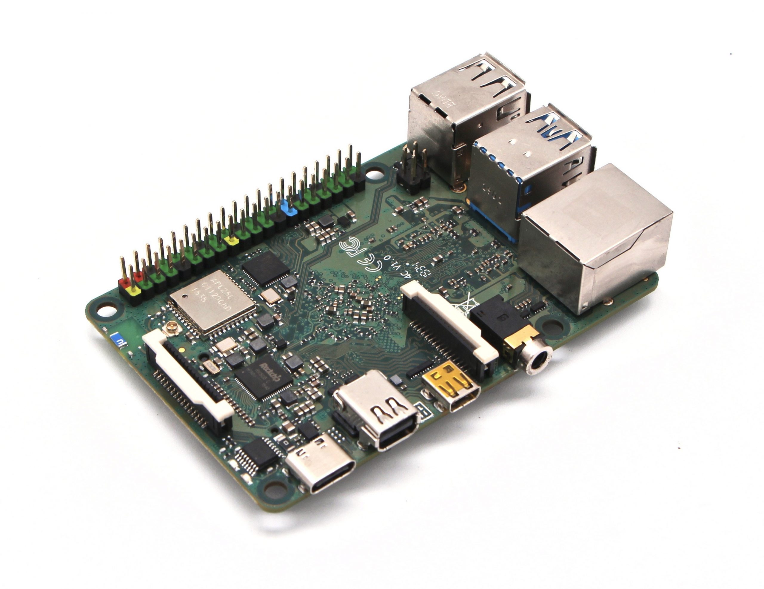 Rock Pi 4C SBC to Support Dual Display Setups via micro HDMI and mini DP Ports