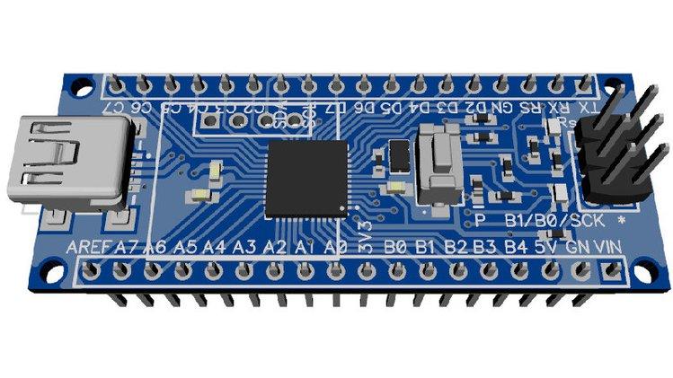 644/1284 Narrow – The smallest Atmega644/1284-based board