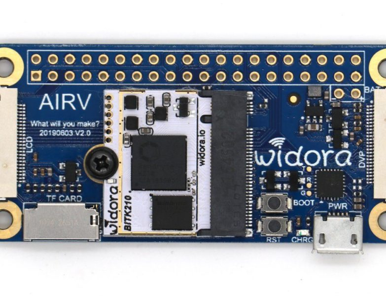 Widora Teases Compact Kendryte K210-Powered Binocular Facial Recognition Board