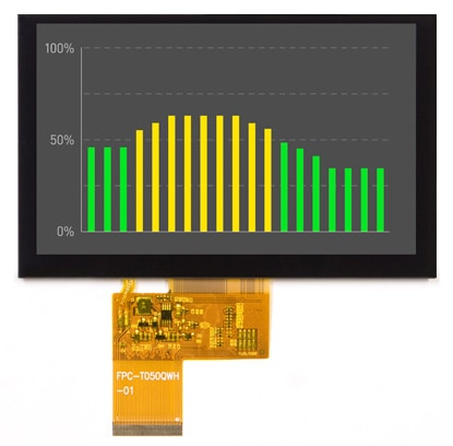 5″ Color TFT LCD Display with Enhanced Viewing Angle