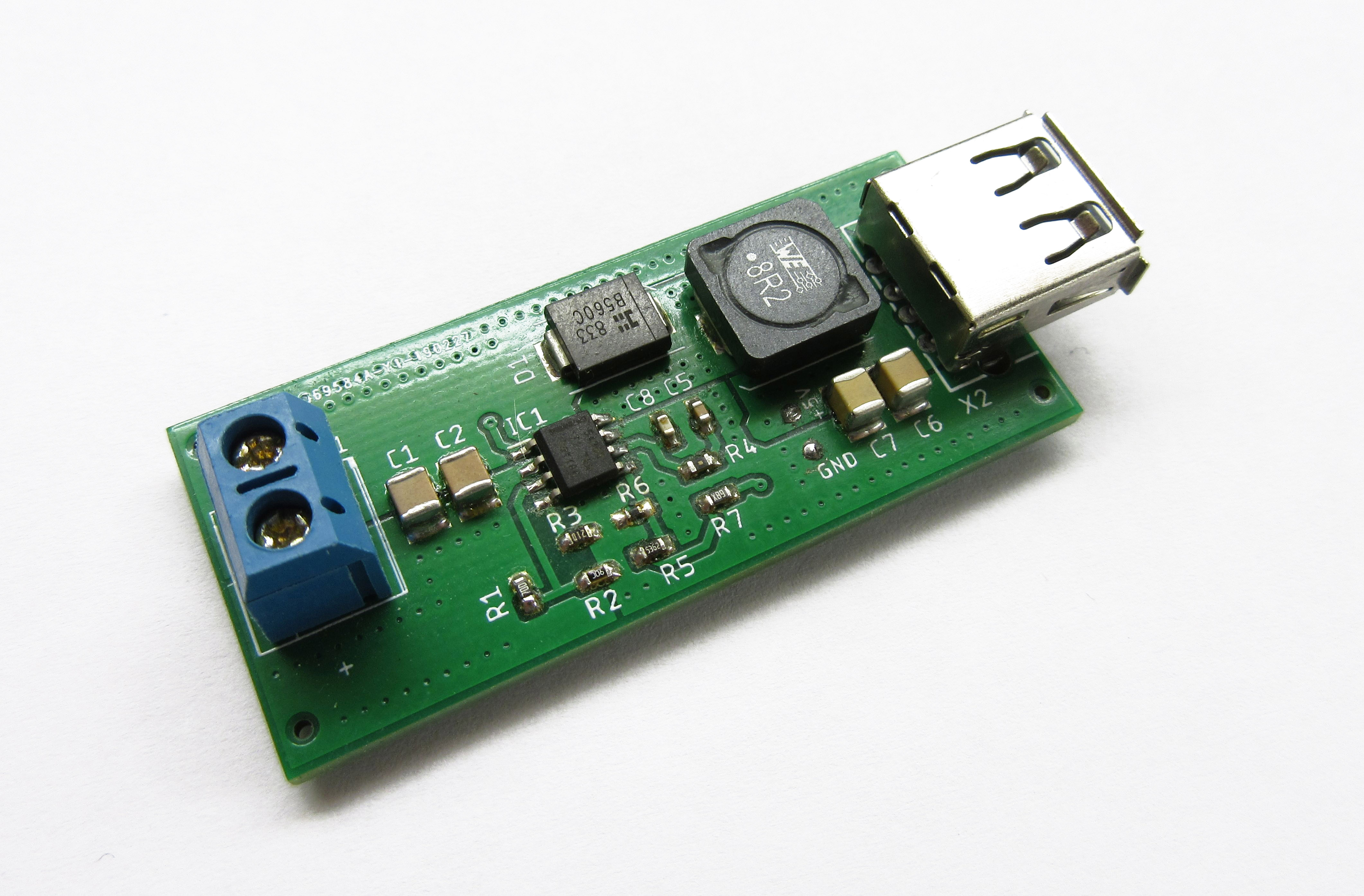 60V to 5V @ 3.5A Buck converter with USB output