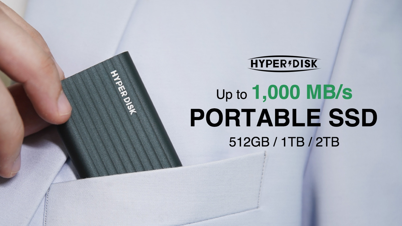 HyperDisk: Pocket-sized & High-speed Portable SSD