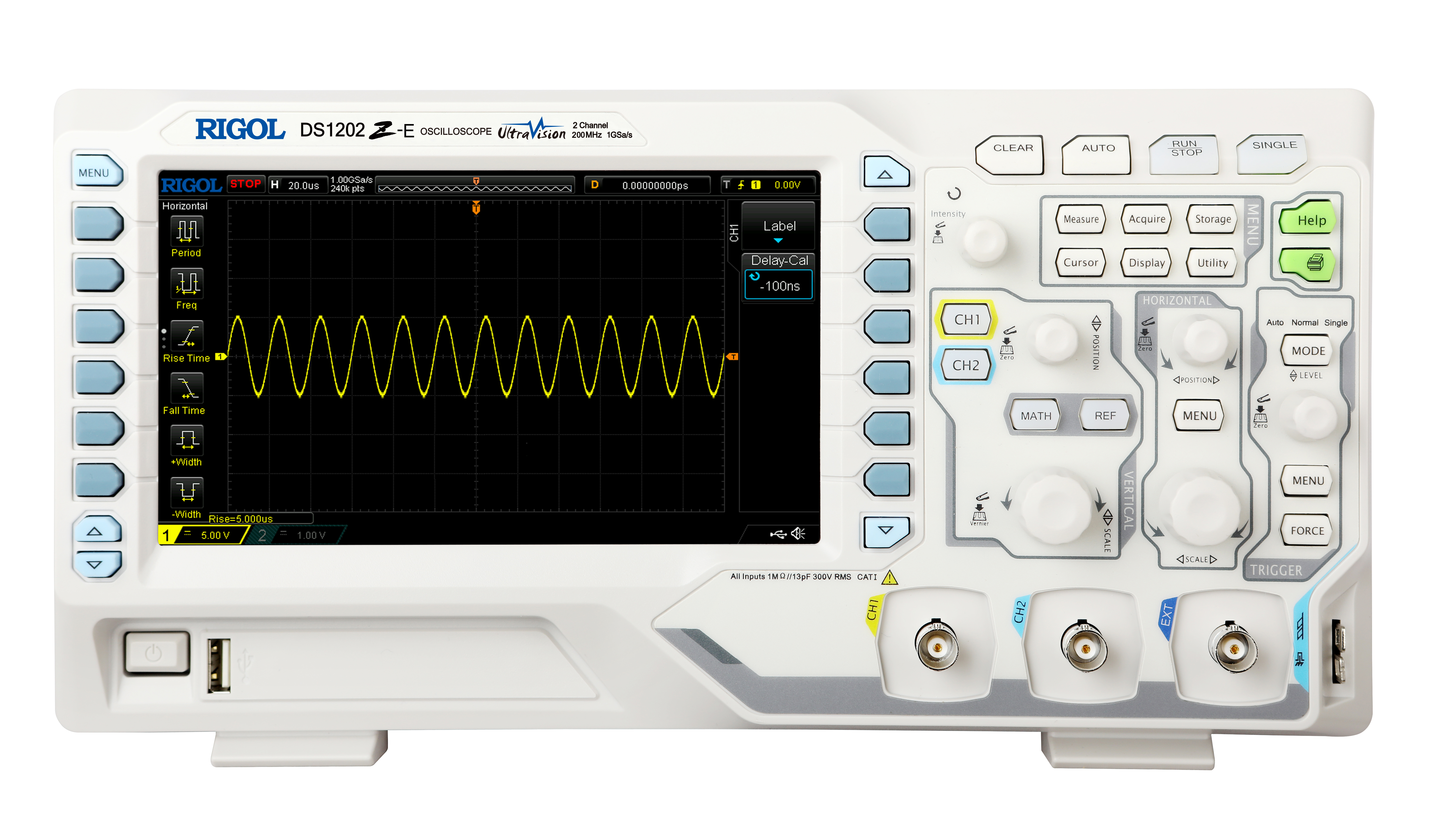 New 200MHz DS1202Z-E to RIGOL's Popular DS1000Z Series Oscilloscopes