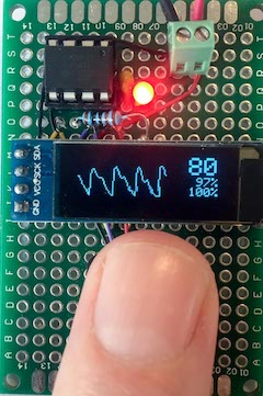 tinyPulsePPG – ATTiny85 Pulse oximeter with photoplethysmogram