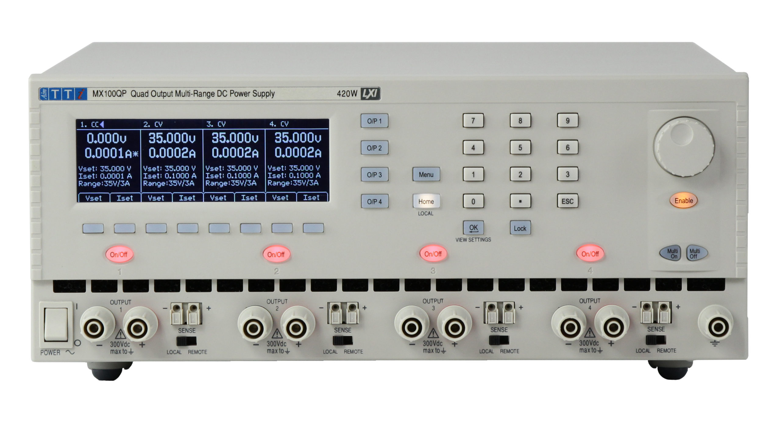 MX100Q Series Compact 4-Channel 210W Power Supplies