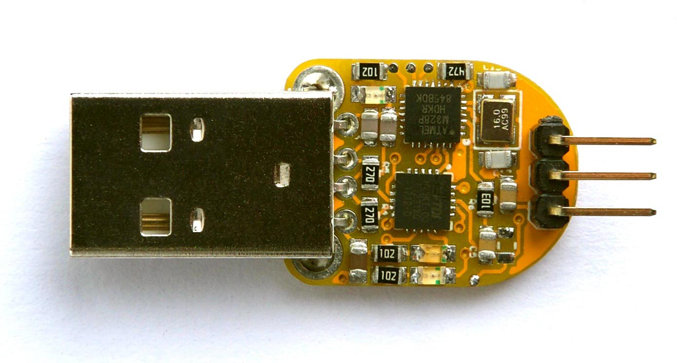 Program ATtiny 0-Series Chips with a Miniature UPDI Dongle