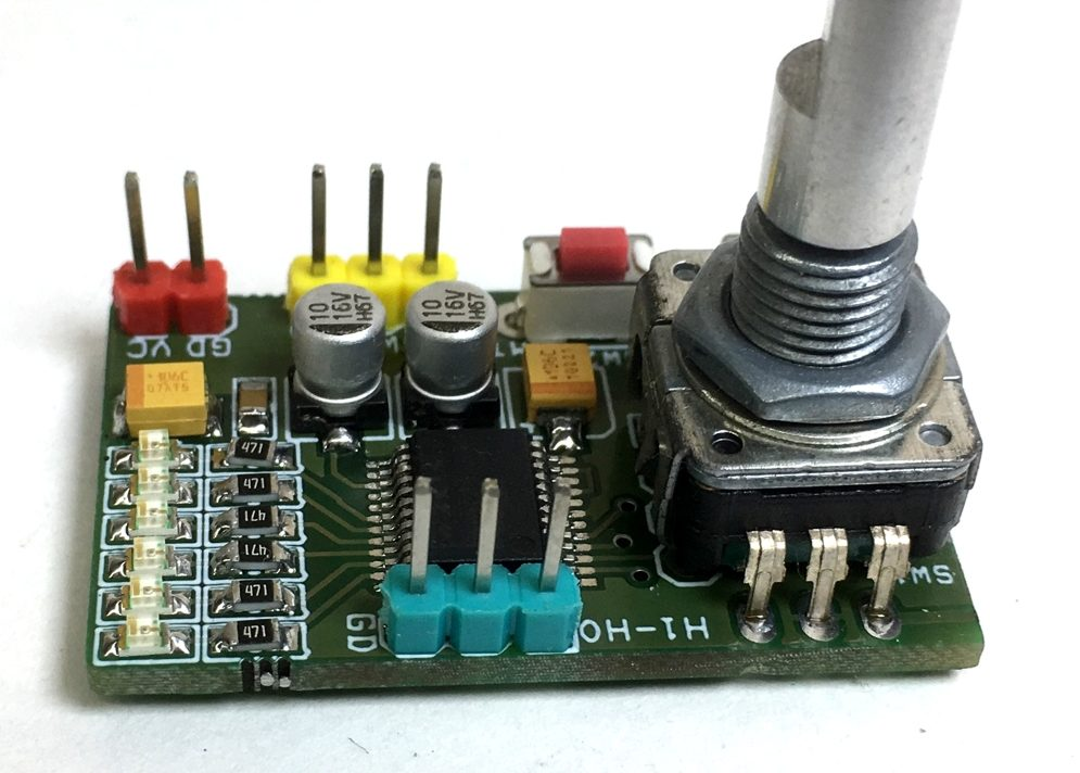 Stereo volume and balance control with Rotary Encoder using MAX5440