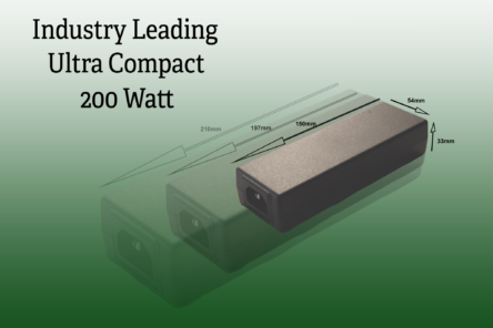 Ultra-compact 200W desktop power supply from FiDUS features Gallium Nitride switching
