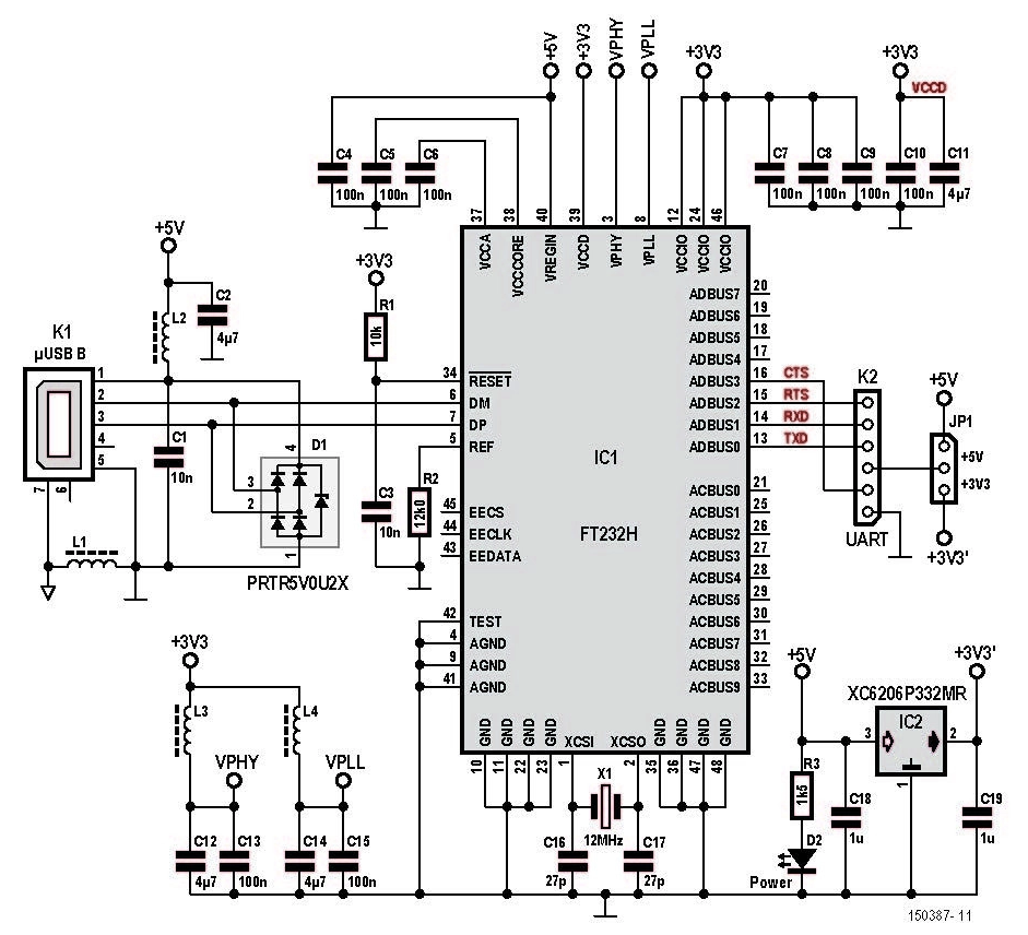 free elektor article  compact usb to serial converter