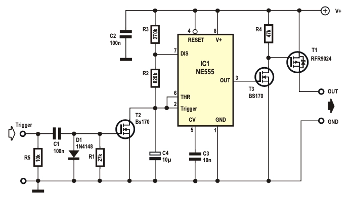 Free Elektor Circuit – An NE555 Watchdog Timer