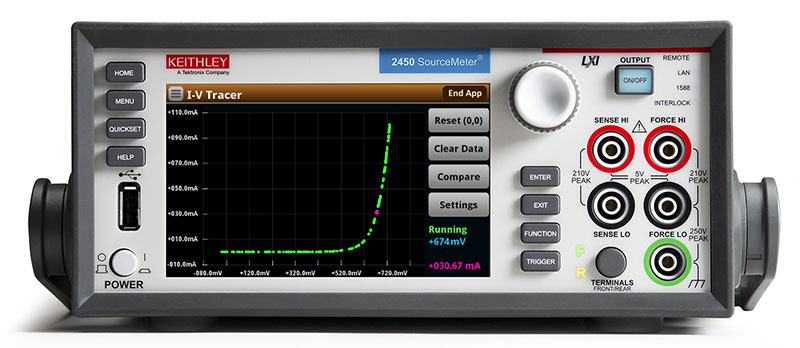 Keithley SMUs emulate classic curve tracers with new software