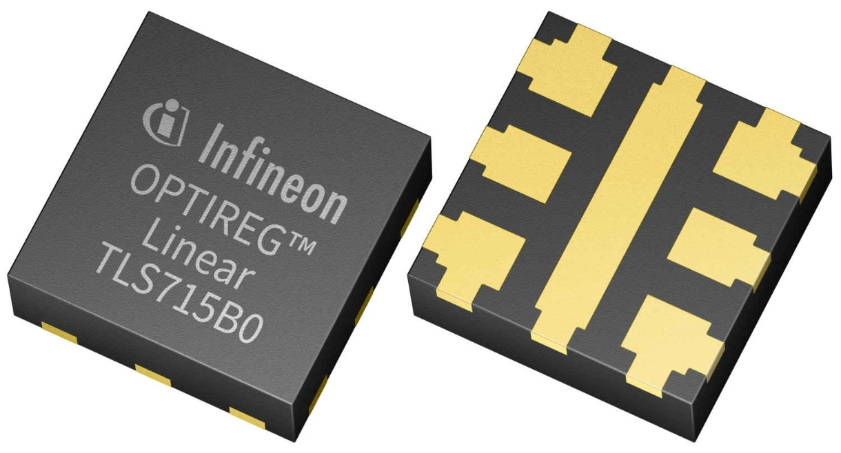 "Infineon's TLS715B0NA LDO Regulator Uses ""Flip-Chip"" Technology to Diffuse Heat"