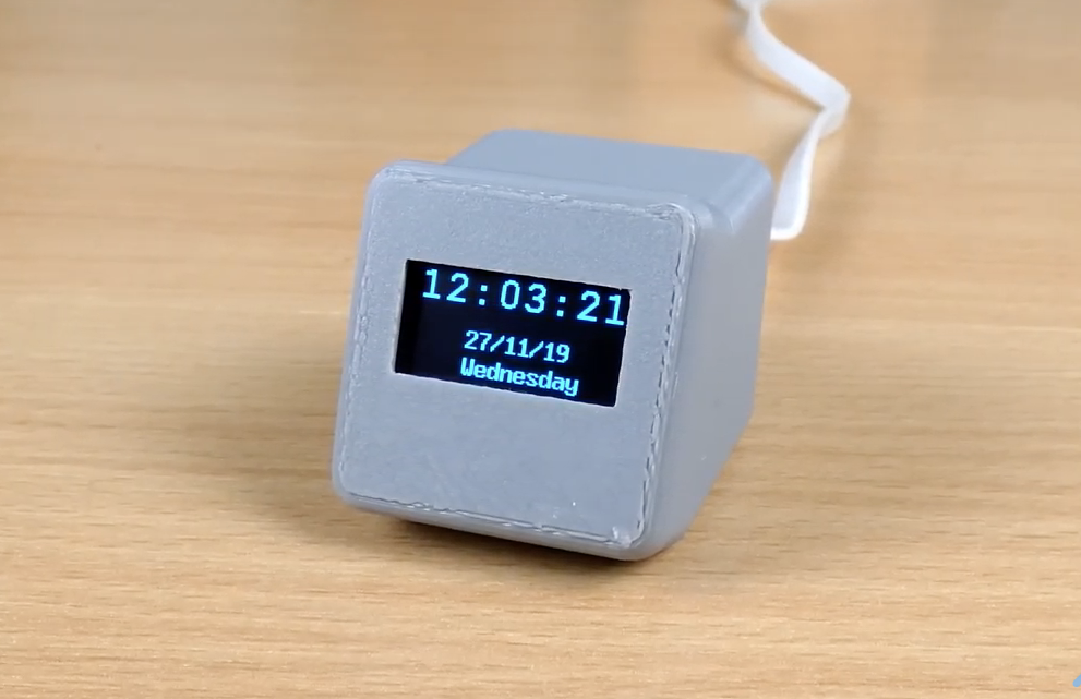 Network Clock using ESP8266 and OLED display