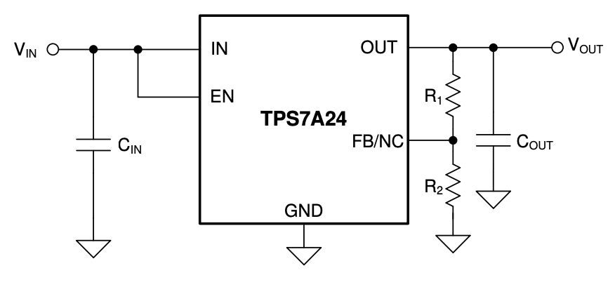 TPS7A24 – 8V tolerant, 2-µA IQ, 200-mA low-dropout (LDO) linear voltage regulator
