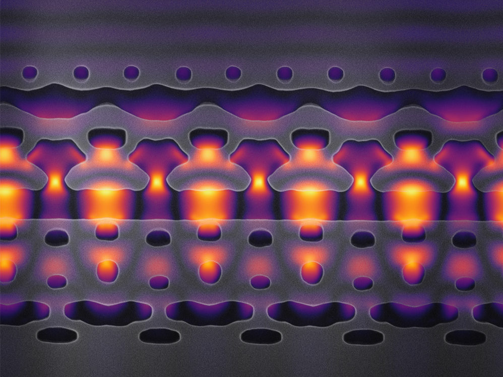 Particle accelerator fits on a chip