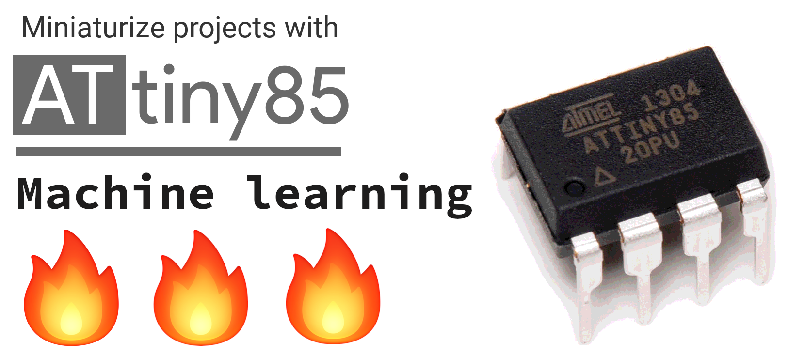 Embedded Machine learning on Attiny85