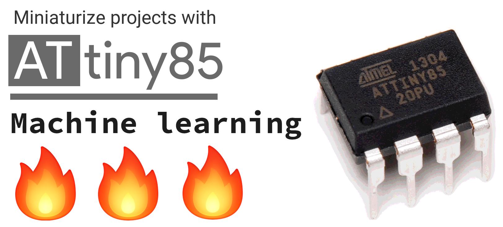 Embedded Machine learning on Attiny85