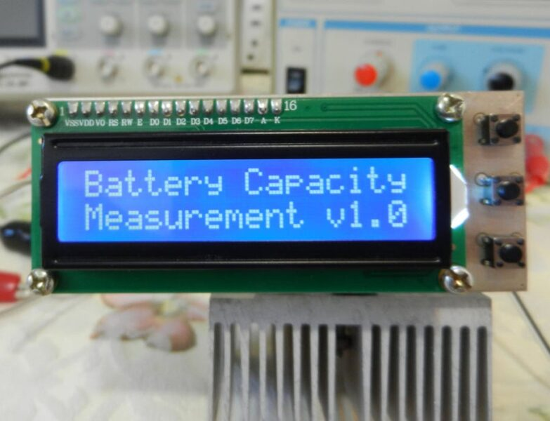 Battery (Lithium, NiMH, NiCd) Capacity Tester Using Arduino