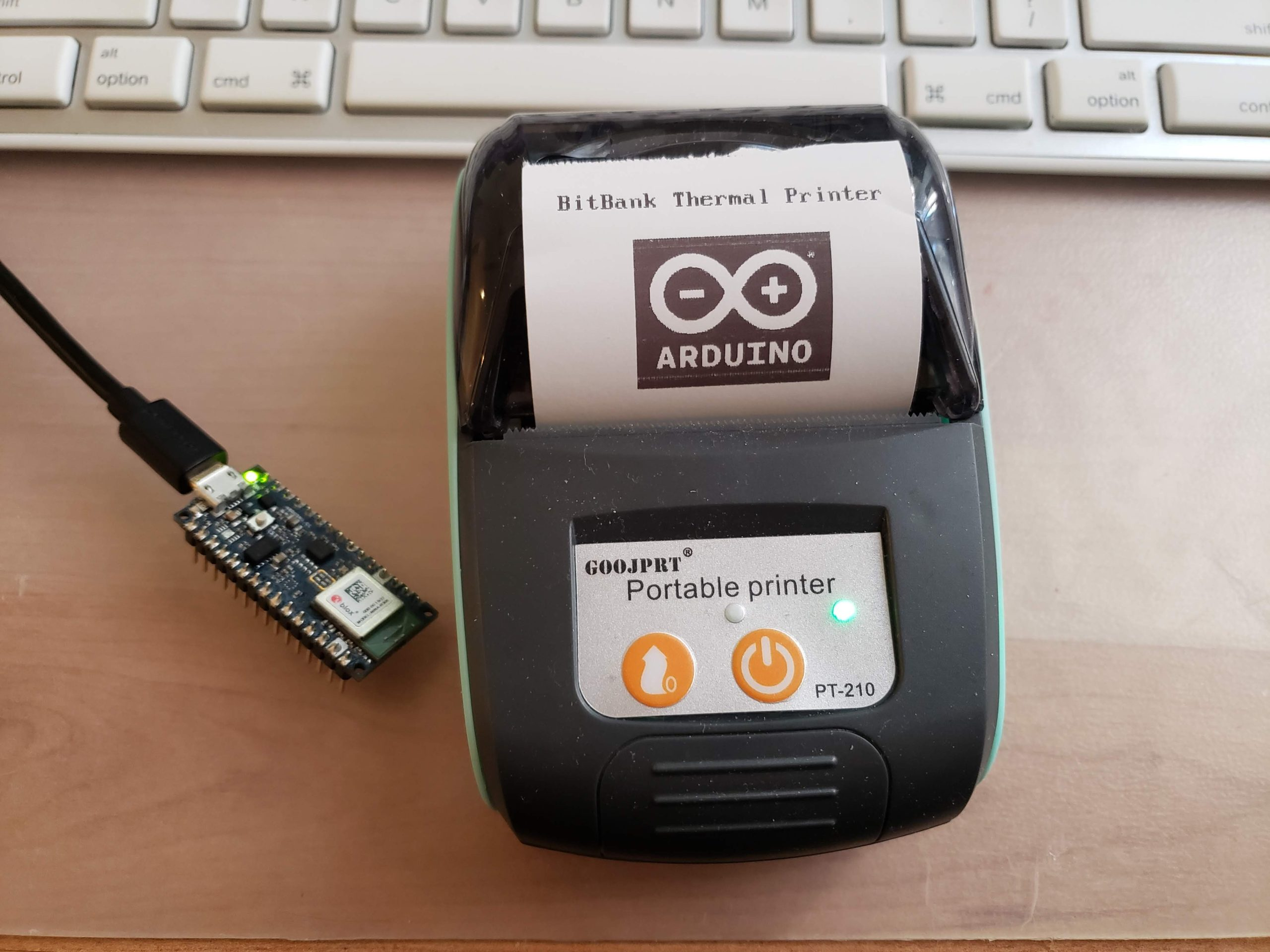 Arduino library to draw text and graphics on BLE Thermal Printers
