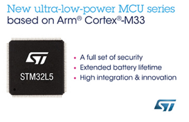 STMicroelectronics STM32L5 series of ultra-low-power MCUs