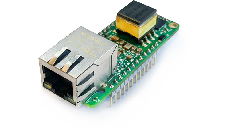 PoE FeatherWing – Ethernet FeatherWing with 4W of PoE power