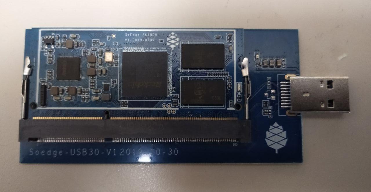 Pine64 SOEdge AI Module Delivers 3.0 TOPS using Rockchip RK1808 SoC
