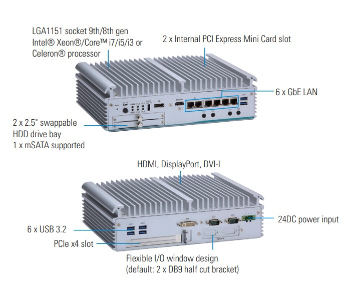 Axiomtek's eBOX710-521-FL – A Workstation-grade Fanless Embedded System for Edge Computing
