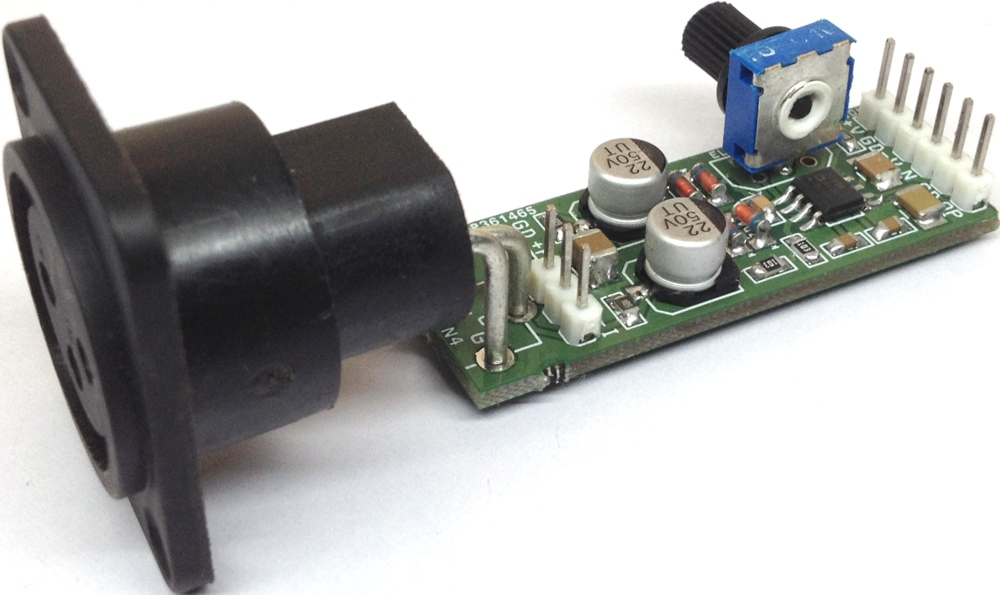 Phantom Powered Micro-Phone Pre-Amplifier using SSM2019