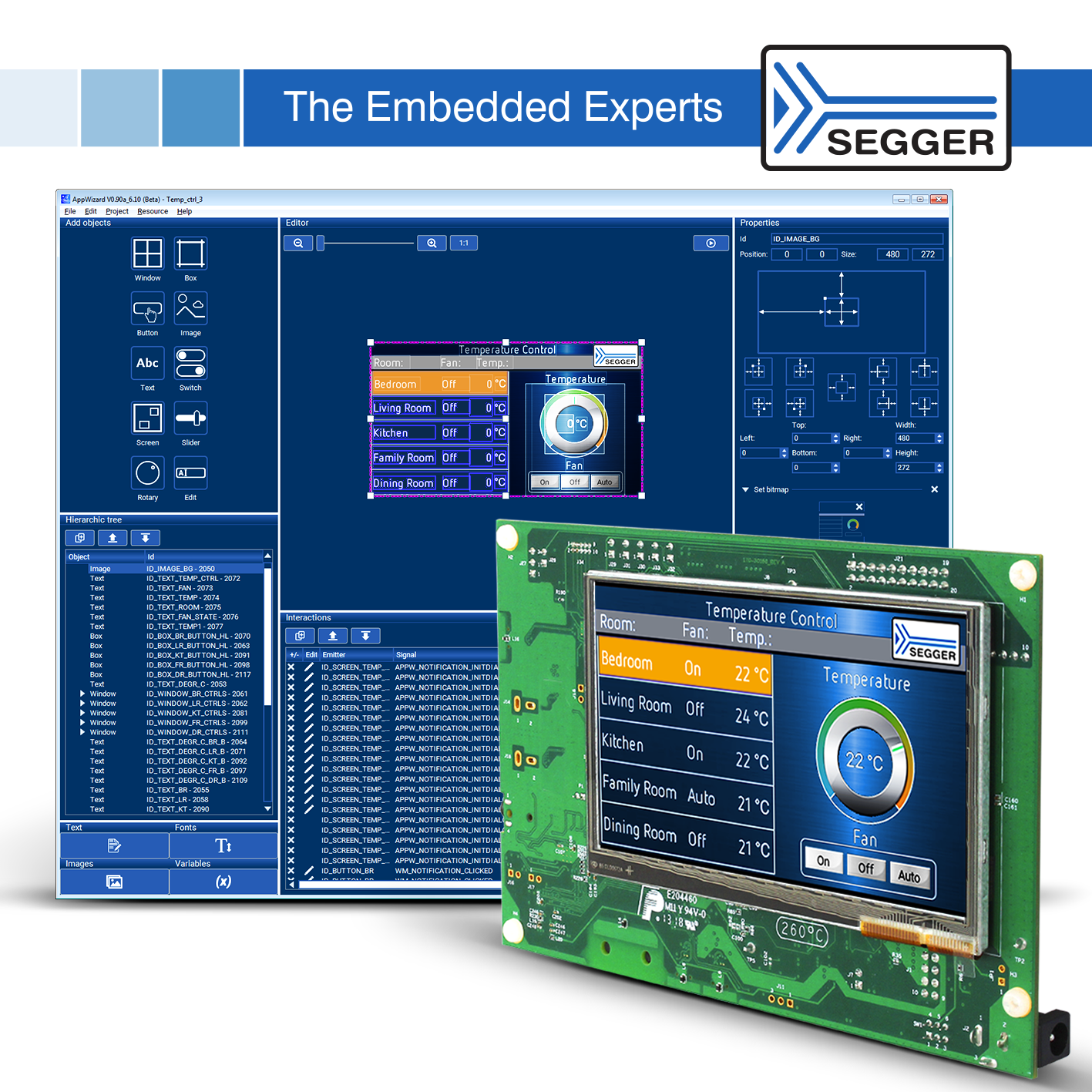 SEGGER AppWizard Enabling Advanced GUI Design in Next Generation Embedded Applications