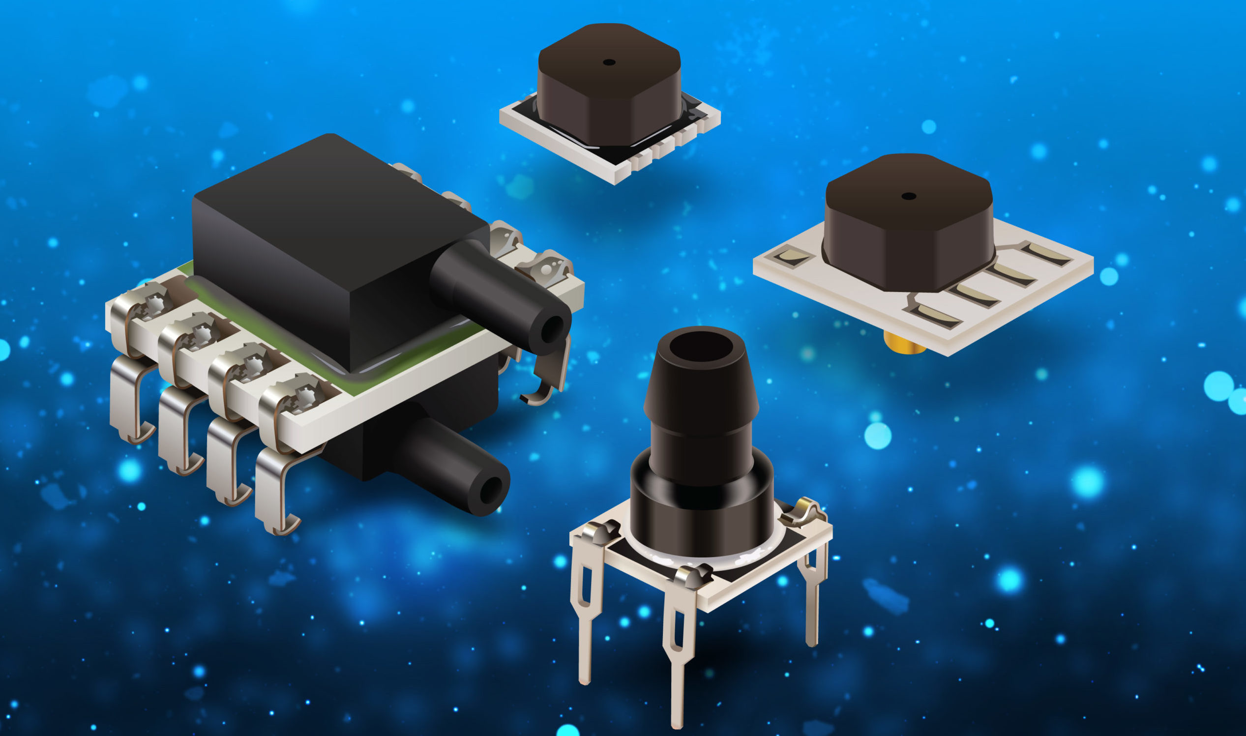 MEMS pressure sensors feature fast response, high resolution, long-term stability
